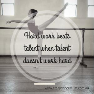 Dance natural talent